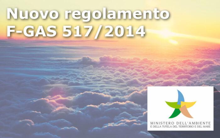 Immagine articolo Nuovo Regolamento F-Gas 517/2014