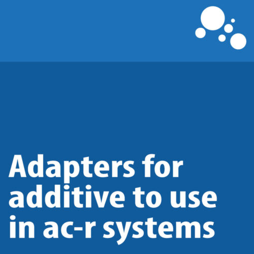 Adapters for additive to use in ac-r systems