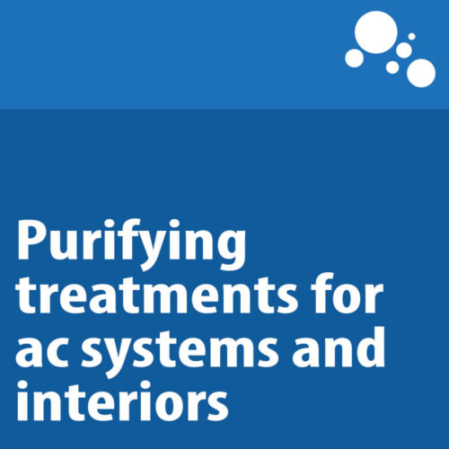 Purifying treatments for ac systems and interiors