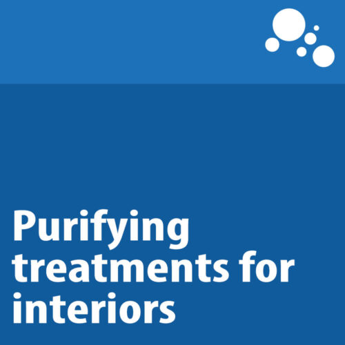 Purifying treatments for interiors